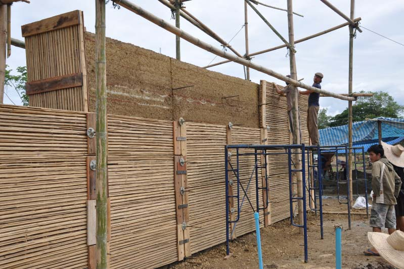 Rammed Earth Chiangmai Life Construction