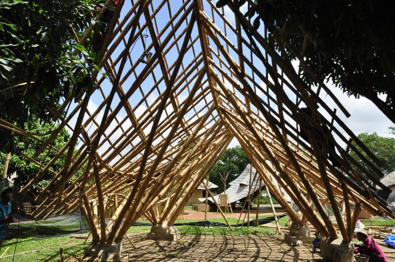 Bamboo Architecture Construction Bamboo Earth