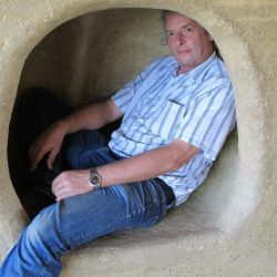 Martin Rauch In A Rammed Earth Wall Cave At Panyaden School