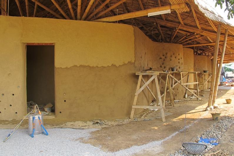 Adobe Brick Earth Construction Bamboo Earth Architecture