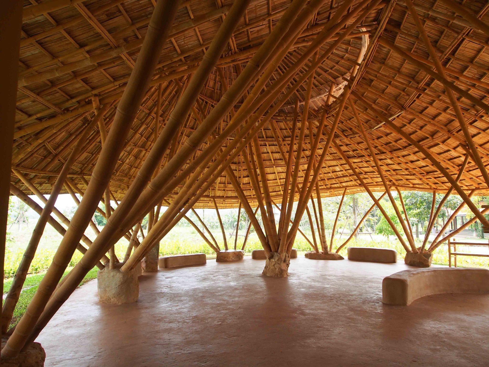 Rammed Earth Floor At Panyaprateep Bamboo Earth