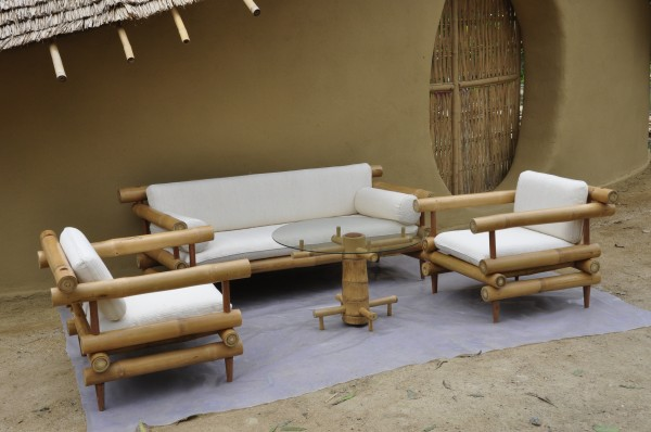 Bamboo Sofa Set 2 Earth Architecture