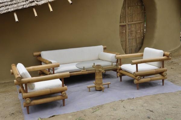 Bamboo Sofa Set 2 Earth Architecture