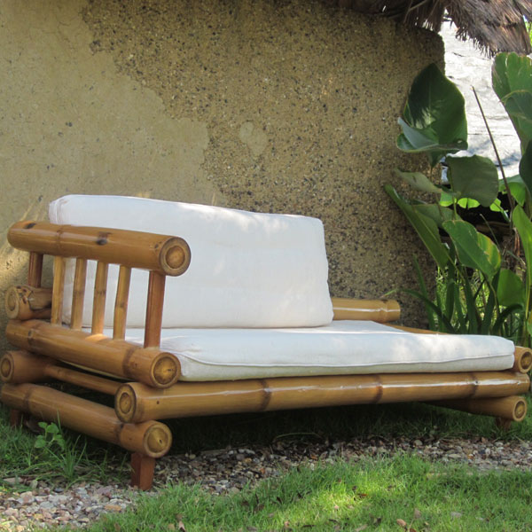 Furniture Bamboo Lounge Sofa 1-Arm