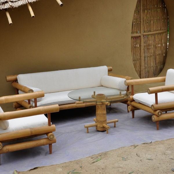 bamboo furniture at chiangmai life construction