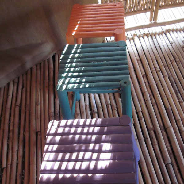 Furniture Bamboo Colourful Small Chair