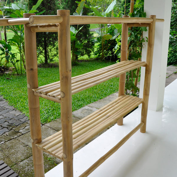 Furniture Freestanding Bamboo Shelf