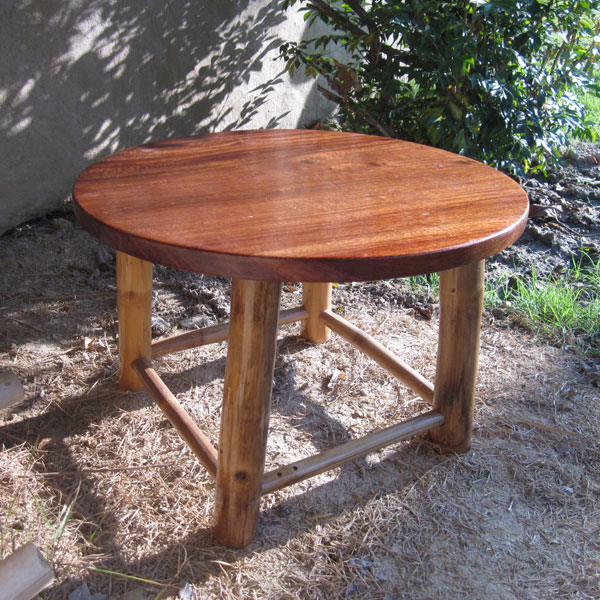 Furniture Small Bamboo Round Coffee Table