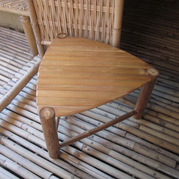 Furniture Small Bamboo Triangular Coffee Table