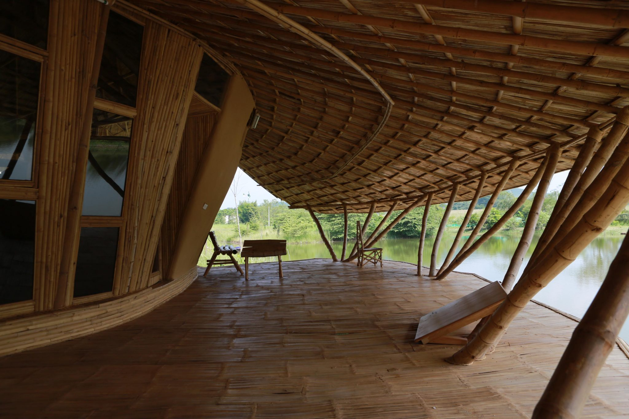 Image Result For Modern Bamboo House Construction