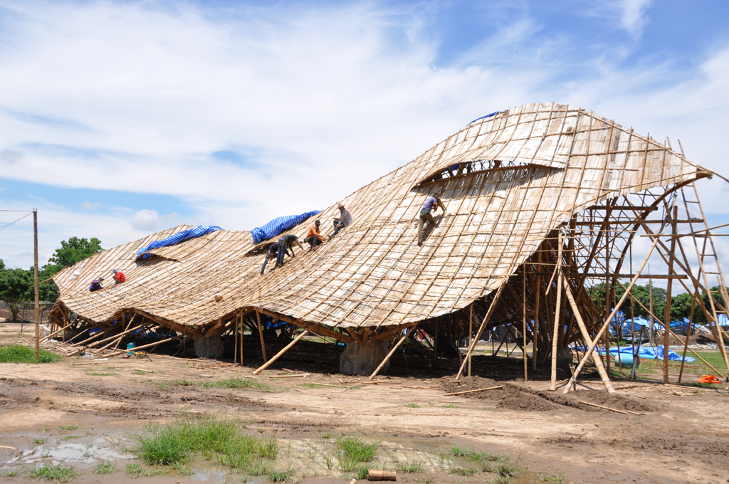 Waterproofing Bamboo Roofs Bamboo Earth Architecture