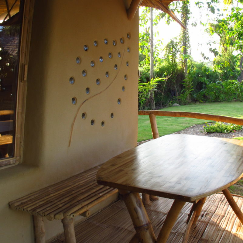 Wonderful Small Bamboo And Earth Adobe Cottage With Half Open Bathroom, Terrace And  Pantry
