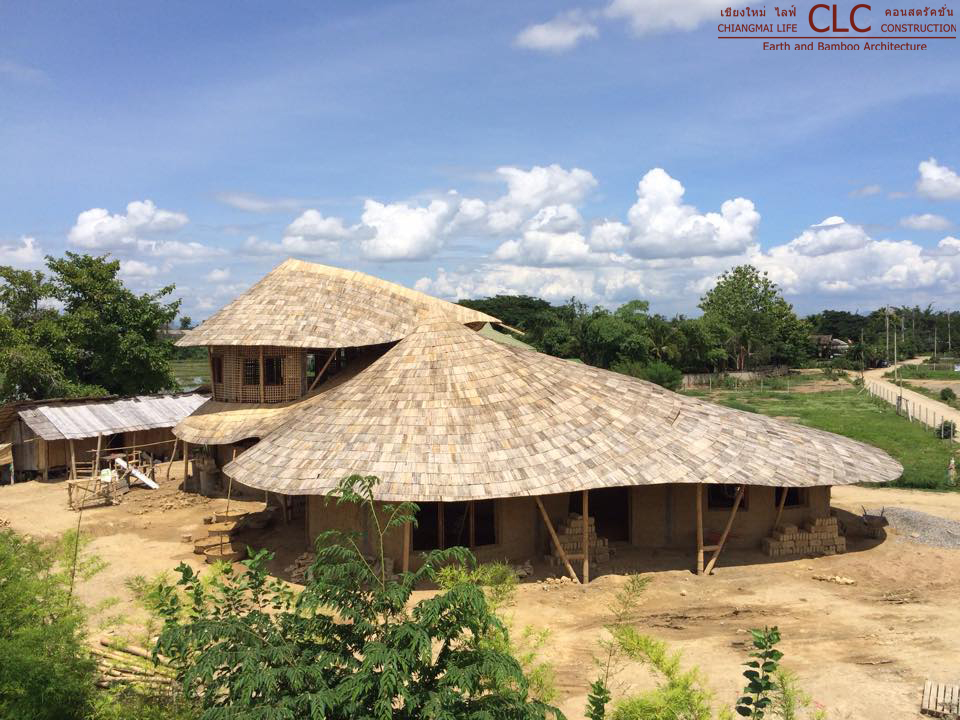 2-storey bamboo and earth family home
