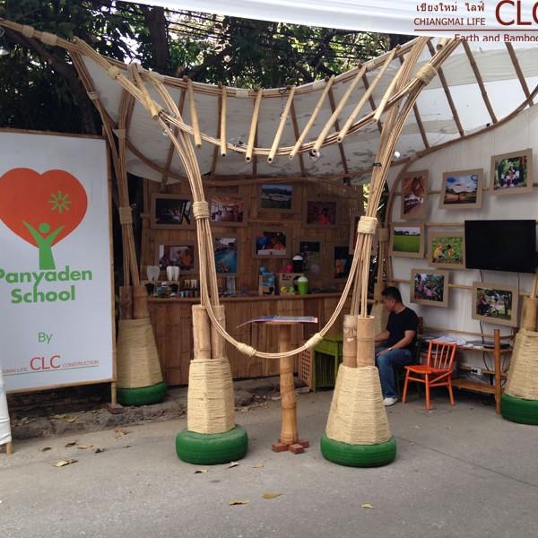 Bamboo Display Booth