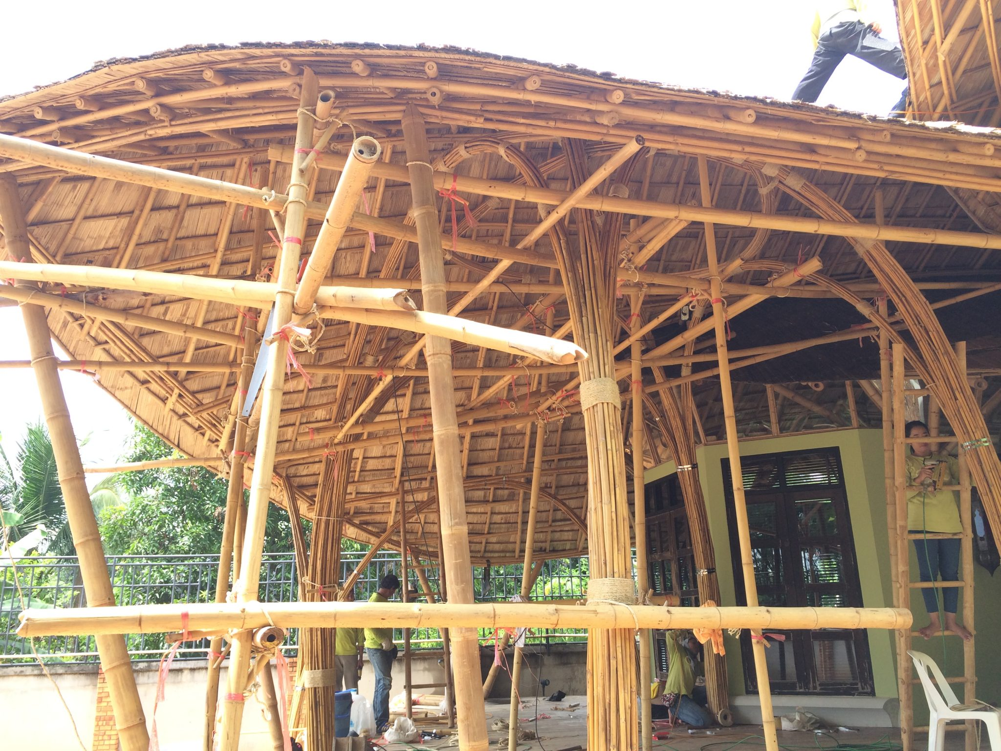 Bamboo House Roof