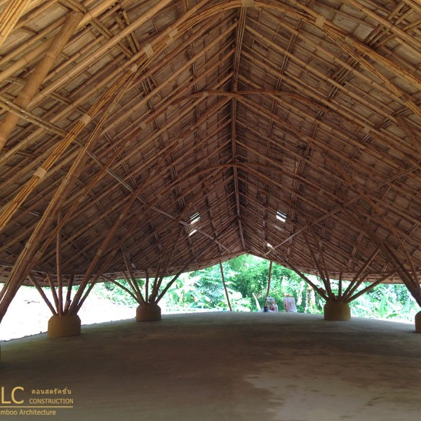 Dhammagiri Meditation Hall Bamboo Earth Architecture