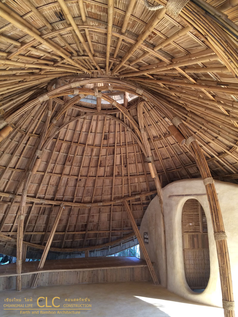Bamboo Dome Sala Bamboo Earth Architecture Clc
