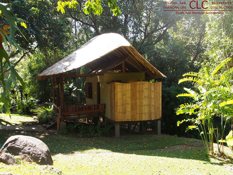 Bamboo Hut On Terrace