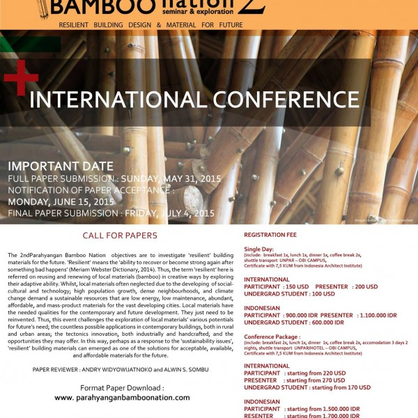 International Bamboo Conference In Bandung, Indonesia