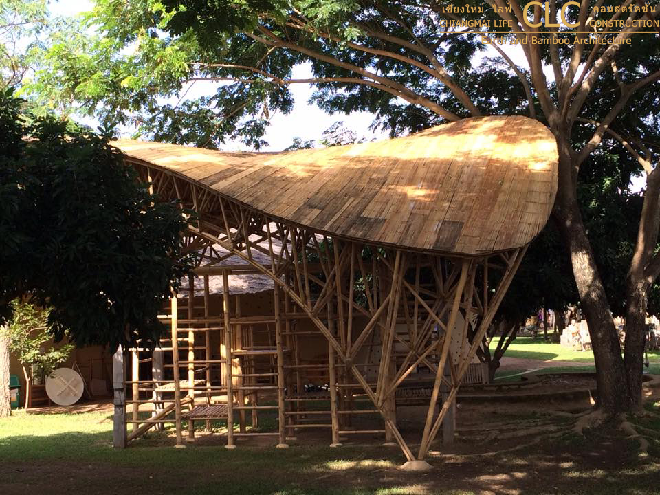 Bamboo Space Frame Playground Bamboo Earth Architecture