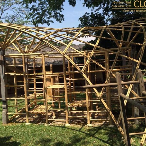 Bamboo Architecture, Chiangmai Life Construction, Chiang Mai, Thailand