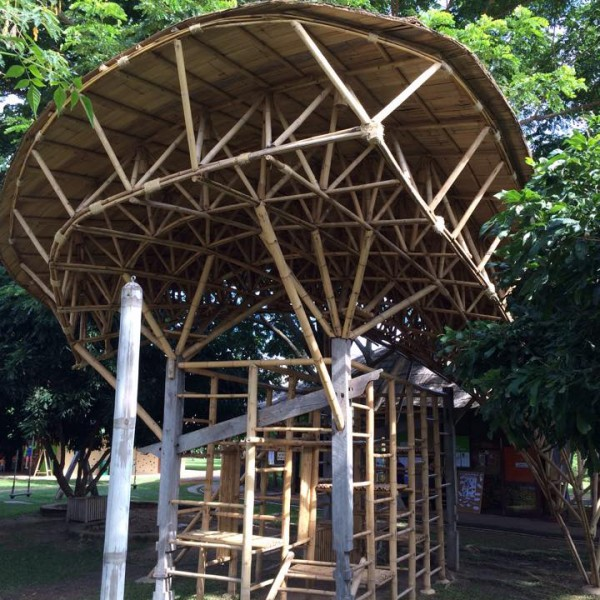 Bamboo Architecture - Bamboo Space Frame Playground