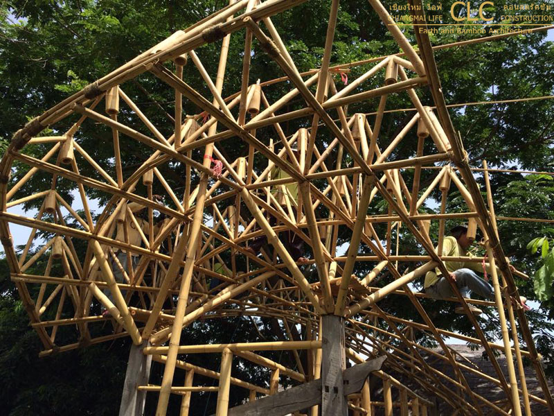 Bamboo space frame playground |Bamboo Earth Architecture