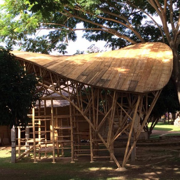 Bamboo Space Frame Playground