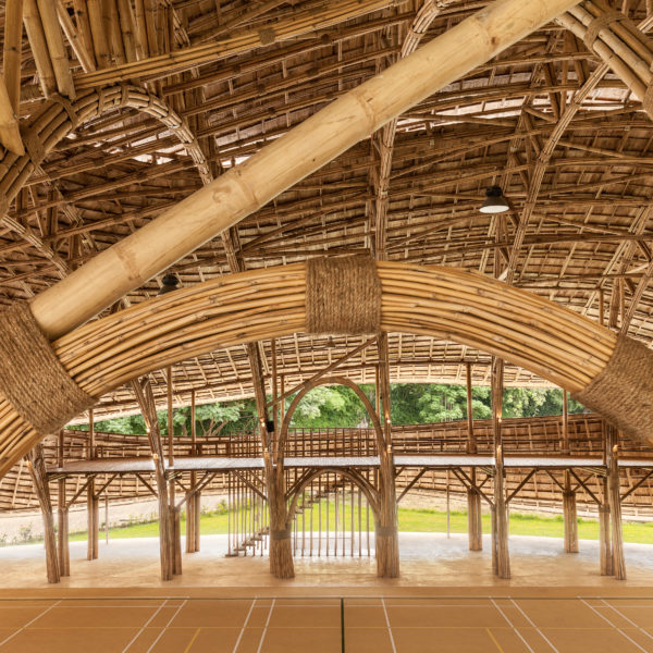 Italy's Design Icon Domus Features The Bamboo Sports Hall