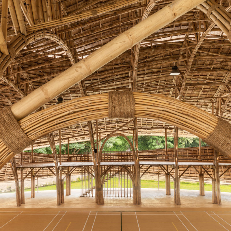 Domus Features The Bamboo Sports Hall
