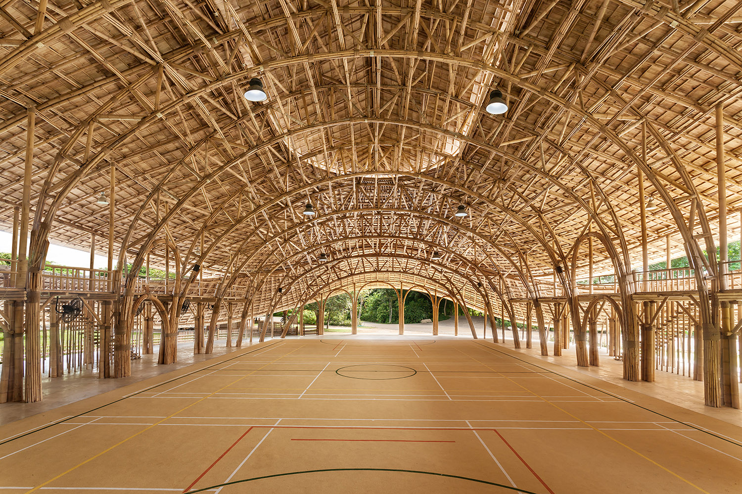 World Architecture News publishes the Bamboo Sports Hall