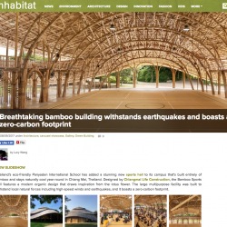 Inhabitat Writes About The Bamboo Sports Hall