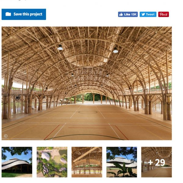 Panyaden's Bamboo Sports Hall On ArchDaily