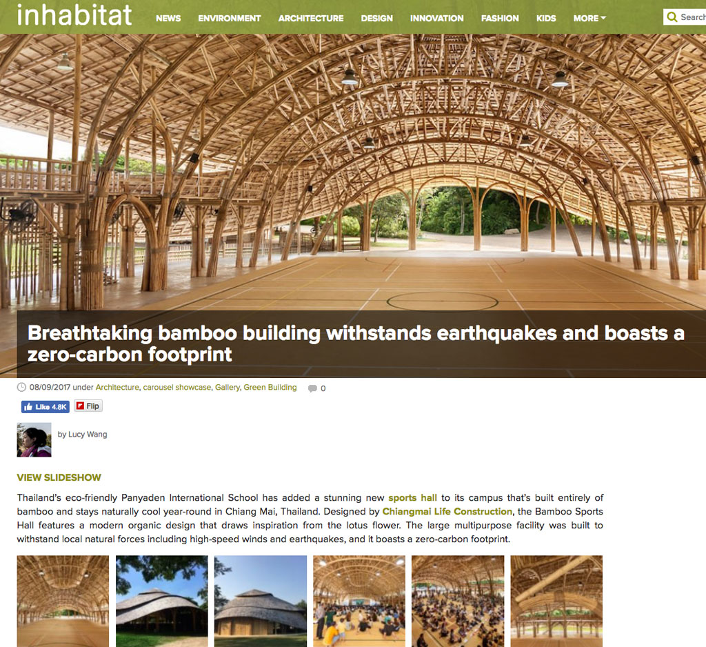 Inhabitat On The Bamboo Sports Hall