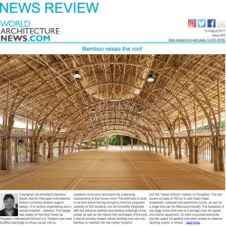 World Architecture News Publishes Bamboo Sports Hall