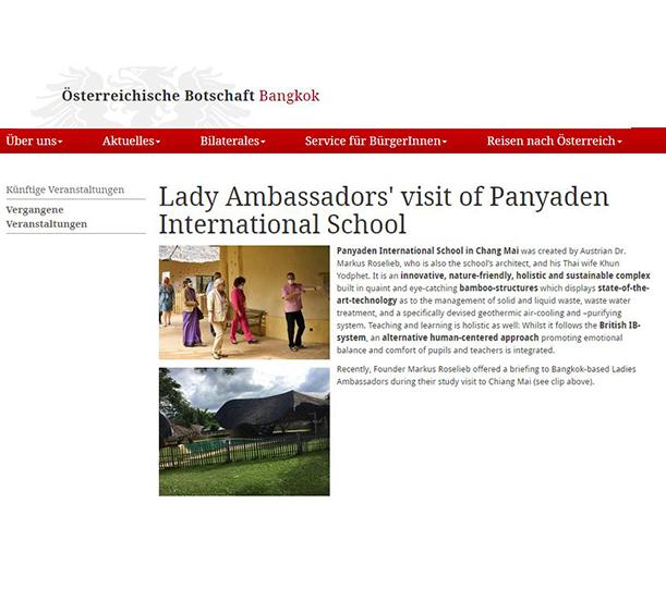 Lady Ambassadors' Visit Of Panyaden International School