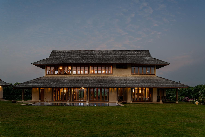 Wood & earth house